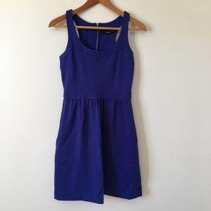 Cynthia Rowley Ponte Dress Racerback Bright Blue